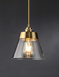 cheap -1-Light 16.5 cm Pendant Light Glass Glass Cone Electroplated Modern 110-120V / 220-240V