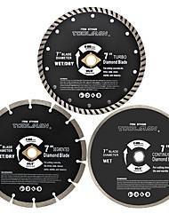 abordables -toolman 3pcs lame de scie circulaire ajustement universel 7 5/8 pour maçonnerie