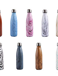 Недорогие -Бутылки для воды 500 ml Нержавеющая сталь С защитным покрытием Прочный Ультралегкий (UL) для Велосипедный спорт / Велоспорт Походы Походы / туризм / спелеология