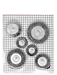 cheap -Crimped Wire Wheel Cup Brush Set 1/4 6 pcs for DeWalt Makita & SKIL Power Drill