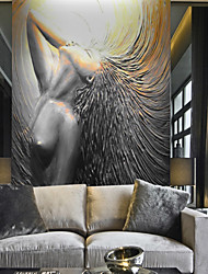 cheap -Pattern 3D Angel Home Decoration Classic Modern Wall Covering, Canvas Material Adhesive required Wallpaper Mural Wall Cloth, Room Wallcovering
