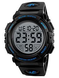 Недорогие -SKMEI Муж. электронные часы Цифровой Pезина Черный / Зеленый 50 m Защита от влаги Будильник Календарь Цифровой На каждый день На открытом воздухе - Зеленый Синий Золотистый