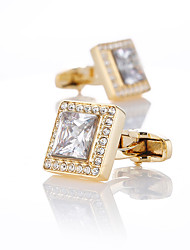 cheap -Cufflinks Classic Fashion Crystal Brooch Jewelry Golden For Wedding Gift