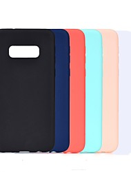 cheap -Case For Samsung Galaxy S8 Plus / S9 Plus Frosted / Shockproof Back Cover Solid Colored Soft TPU for Galaxy S10 / Galaxy S10 Plus / Galaxy S10 E/S8/S9/S6/S6 Edge/S7/S7 Edge