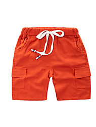 cheap -Kids Boys' Basic Street chic Solid Colored Drawstring Cotton Shorts Brown