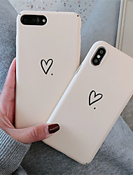 cheap -Case For Apple iPhone XR / iPhone XS Max Pattern  Back Cover Heart Hard PC for soft TPU for iPhone X XS 8 8PLUS 7 7PLUS 6 6S 6PLUS 6S PLUS