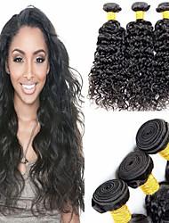Недорогие -6 Связок Бразильские волосы Волнистые человеческие волосы Remy 300 g Человека ткет Волосы Пучок волос One Pack Solution 8-28 дюймовый Естественный цвет Ткет человеческих волос