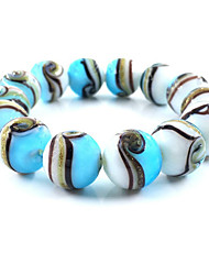 cheap -Women's Bead Bracelet Classic Weave Casual / Sporty Resin Bracelet Jewelry Purple / Orange / Blue For Party Daily