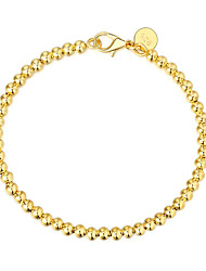 cheap -Men's Chain Bracelet Classic Precious Stylish Brass Bracelet Jewelry Gold / Silver / Rose Gold For Daily Work / Silver Plated / Gold Plated