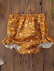 abordables -bébé Fille Actif / Basique Fleur A Volants / Imprimé Coton Short Gris / Bébé