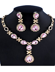 cheap -Women's Multicolor Bridal Jewelry Sets Link / Chain Briolette Drop Stylish Rhinestone Earrings Jewelry Black / Pink / Rainbow For Wedding Party Engagement Gift 1 set