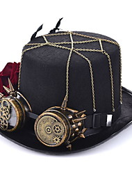 cheap -Feather / Polyester / Alloy Headwear with Feather / Cap / Metal 1 Piece Daily Wear / Outdoor Headpiece