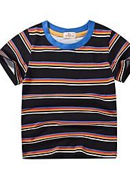 cheap -Kids Boys' Basic Striped Short Sleeve Cotton Tee Black