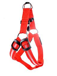cheap -Dogs Harness Training Trainer LED Lights Adjustable / Retractable Stripes Classic Polyester Terylene Green Blue Pink Husky Labrador Alaskan Malamute Golden Retriever Dalmatian Border Collie