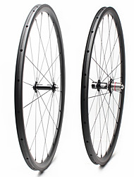 cheap -FARSPORTS 700CC Wheelsets Cycling 23 mm Road Bike Carbon Fiber Tubular 20/24 Spokes 30 mm