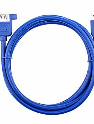 Недорогие -компьютер USB 3.0 удлинитель с мужской женский ухо diy гайка кабель USB 3.0