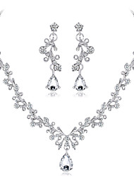 cheap -Women's Bridal Jewelry Sets Drop Fashion Earrings Jewelry Silver For Wedding Party 1 set