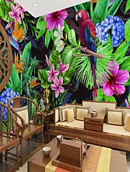 cheap -Flower and Bird Rainforest  Suitable for TV Background Wall Wallpaper Murals Living Room Cafe Restaurant Bedroom Office XXXL(448*280cm)