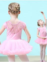cheap -Kids' Dancewear / Ballet Dresses Girls' Training Cotton / Lace Lace Short Sleeve Natural Dress