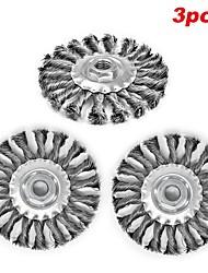 abordables -brosse à roue fil métallique de noeud fileté abrasif 5x 5 / 8-11 0.02 3 pcs pour dewalt& retour