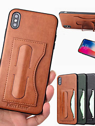 cheap -fierre shann case for apple iphone xr xs max with stand card holder back cover solid colored hard pu leather xs x 8 8 plus 7 7 plus 6 6 plus 6s 6s plus