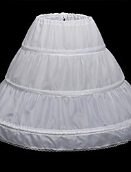 cheap -Wedding / Party Evening Slips Satin Floor-length Classic & Timeless with Lace-trimmed Bottom / Lace-trimmed bottom / Lace-up