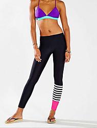 cheap -Women's Yoga Pants Color Block Elastane Running Fitness Gym Workout Tights Leggings Bottoms Activewear Moisture Wicking Butt Lift Tummy Control Power Flex High Elasticity Skinny