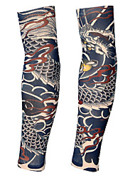 Недорогие -2 pcs Временные татуировки Эргономический дизайн / Ультрафиолетовый свет / Быстровысыхающий плечо / ножка Спандекс Тату рукава