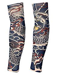 cheap -2 pcs Temporary Tattoos Ergonomic Design / Ultraviolet Light / fast dry brachium / Leg Spandex Sleeve Tattoos