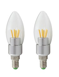 cheap -2pcs 3W E14 LED Light Bulb 12V 24V AC/DC LED 260-400lm Filament Candle Lamp White Warm White for Chandelier Light Wall Lamp Table Lamp