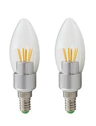 Недорогие -2 шт. 3 Вт e14 светодиодные лампы 12 В 24 В переменного / постоянного тока светодиодные лампы накаливания 260-400lm белый теплый белый для люстры настенный светильник настольная лампа