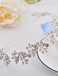 cheap -Rhinestone / Alloy Tiaras / Headbands / Headdress with Crystals / Glitter / Crystals / Rhinestones 1 Piece Wedding / Birthday Headpiece