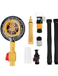 Недорогие -Самовращающаяся щетка для мойки машин с выдвижной длинной ручкой и переключателем потока воды Прочная пена для чистки бутылок