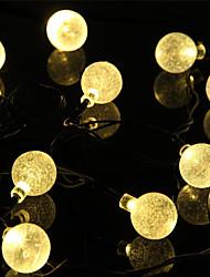 Недорогие -1 компл. Светодиодный фонарь солнечный свет строка 5 метров 20 свет пузырьковый свет открытый водяной свет