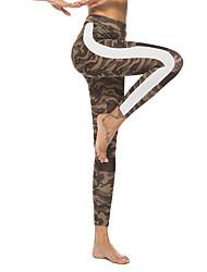 abordables -Femme Pantalon de yoga Bloc de Couleur Coton Course / Running Fitness Entraînement de gym 3/4 Pantacourt Tenues de Sport Séchage rapide Butt Lift Contrôle du Ventre Power Flex Elastique Slim