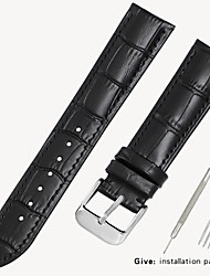 cheap -Genuine Leather / Leather / Calf Hair Watch Band Strap for Black / Brown 17cm / 6.69 Inches / 18cm / 7 Inches / 19cm / 7.48 Inches 1.2cm / 0.47 Inches / 1.4cm / 0.55 Inches / 1.6cm / 0.6 Inches