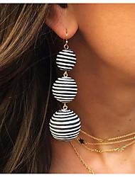cheap -Women's Drop Earrings Ball Earrings Dangle Earrings Braided Ball Simple Classic European Ethnic Earrings Jewelry Red / Blue / Black / White For Party Daily Street Work 1 Pair