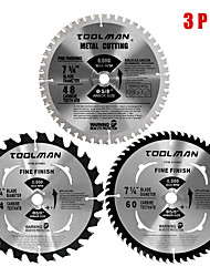 abordables -lame de scie circulaire 7.25 5/8 60t 48t 24t 3 pcs pour dewalt& pointe en carbure de makita