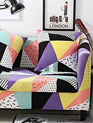 cheap -Triangle Print Durable Soft High Stretch Slipcovers Sofa Cover Washable Spandex Couch Covers