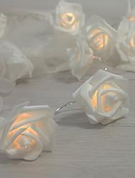 cheap -3m 20LEDs  Rose String Lights Christmas Lights Simulation Rose Wedding Room Decoration Flashing Lights AA Batteries Powered 1 set
