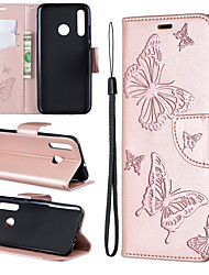 cheap -Samsung mobile phone case anti-drop with card slot clip type embossed butterfly pattern for Samsung S10/S10 PLUS/S10E/S9/S9PLUS/All-inclusive mobile phone case