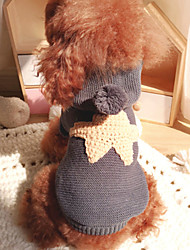 cheap -Dog Jumpsuit Winter Dog Clothes Costume Cotton Stars Casual / Daily Keep Warm XS S M L XL