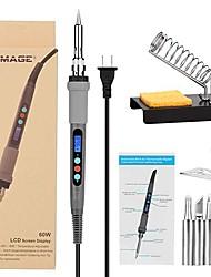 Недорогие -регулируемая температура электрический паяльник набор цифровой дисплей электрический утюг сварочный паяльник сварочная горелка 60 Вт комбинированный комплект