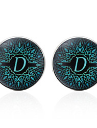 cheap -Cufflinks Alphabet Shape Formal Vintage Brooch Jewelry Black Silver Brown For Gift Daily