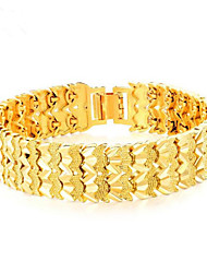 cheap -Men's Chain Bracelet Hollow Out Lucky Stylish Titanium Steel Bracelet Jewelry Gold For Party Daily