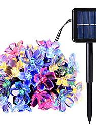 cheap -7m Cherry Blossom String Lights Outdoor String Lights 50 LEDs Multi Color Festival Room Decorative Solar Powered 1 set