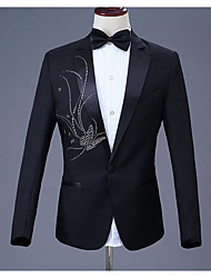 cheap -Tuxedos Standard Fit Notch Single Breasted One-button Polyester Fashion