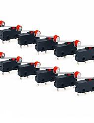 Недорогие -Мгновенный шарнир металлический ролик рычаг микропереключатель переменного тока 5a 125 250 В spdt 3 контакта