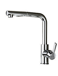 cheap -Kitchen faucet - Single Handle One Hole Chrome Pull-out / ­Pull-down Other Contemporary / Antique Kitchen Taps