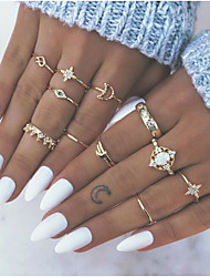 cheap -Ring Gold Alloy 13pcs / Women's / Ring Set